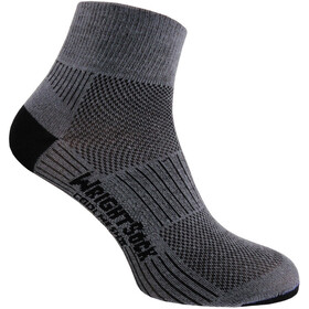 Wrightsock Coolmesh II Quarter Calze, grey